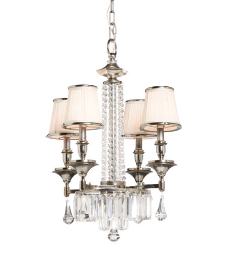 Artcraft Lighting Newcastle 4 Light Chandelette in Antique Pewter Finish AC744 photo