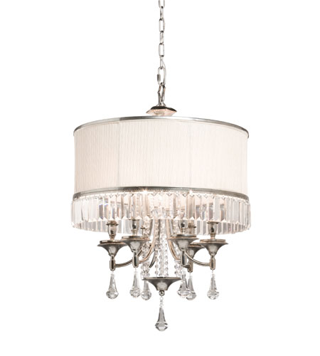 Artcraft Lighting Newcastle 6 Light Chandelier in Antique Pewter Finish AC746 photo