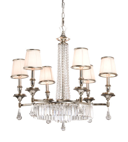 Artcraft Lighting Newcastle 6 Light Chandelier in Antique Pewter Finish AC747 photo