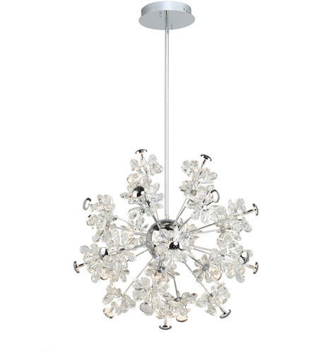 Artcraft Chrome Crystal Chandeliers