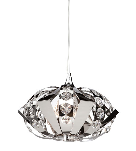 Artcraft Lighting Cheddington 3 Light Single Pendant in Chrome AC793 photo