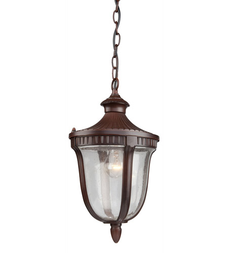 Artcraft Lighting Palermo 1 Light Outdoor Pendant in Mahogany AC8025MA photo