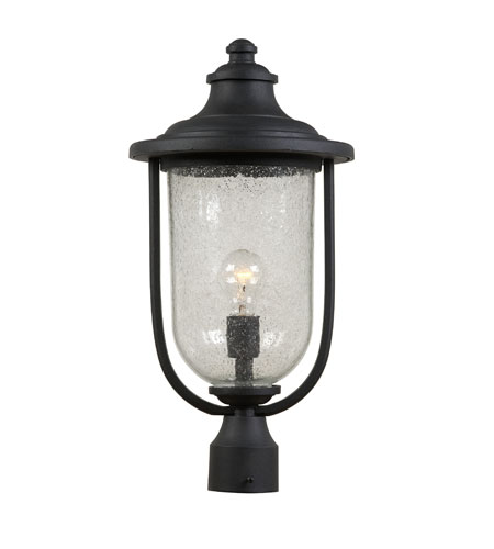 Artcraft Lighting Monterey Bay 1 Light Post Head in Black AC8073BK photo