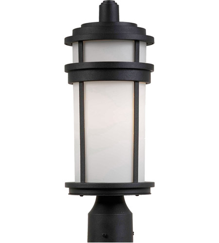 Artcraft AC8083BK Columbia 1 Light 18 inch Black Post Lantern photo