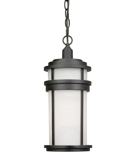 ARTCRAFT Columbia 1 Light Outdoor Pendant in Black AC8085BK photo