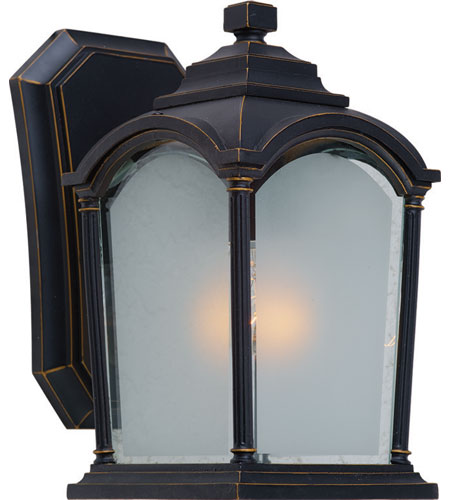 Artcraft Lighting Hartford 1 Light Outdoor Wall in Black w/ Bronze Highlights AC8100BG photo