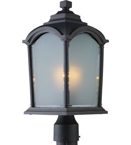 Artcraft Lighting Hartford 1 Light Post Head in Black w/ Bronze Highlights AC8113BG photo