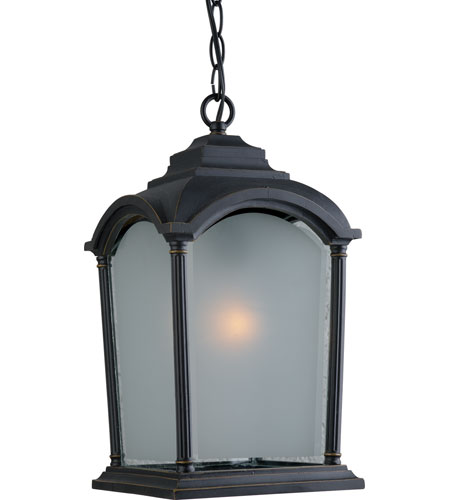 Artcraft Lighting Hartford 1 Light Outdoor Pendant in Black w/ Bronze Highlights AC8125BG photo