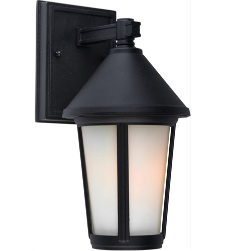 ARTCRAFT Malibu 1 Light Outdoor Wall Mount in Black AC8210BK photo