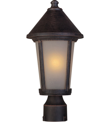 Artcraft Lighting Malibu 1 Light Post Head in Rust AC8213RU photo