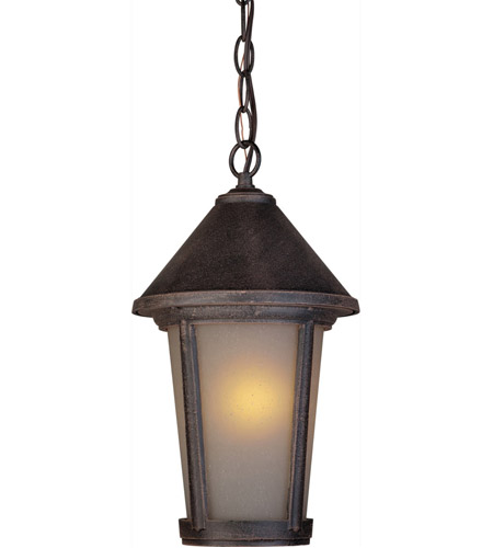 ARTCRAFT Malibu 1 Light Outdoor Pendant in Rust AC8215RU photo