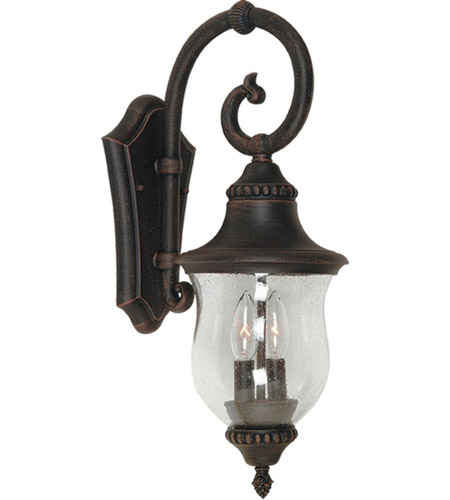 ARTCRAFT Premiere 2 Light Outdoor Wall Sconce in Bronze AC8241BZ photo
