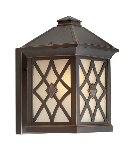 Artcraft Lighting Lattice 1 Light Outdoor Wall in Oil Rubbed Bronze AC8251OB photo