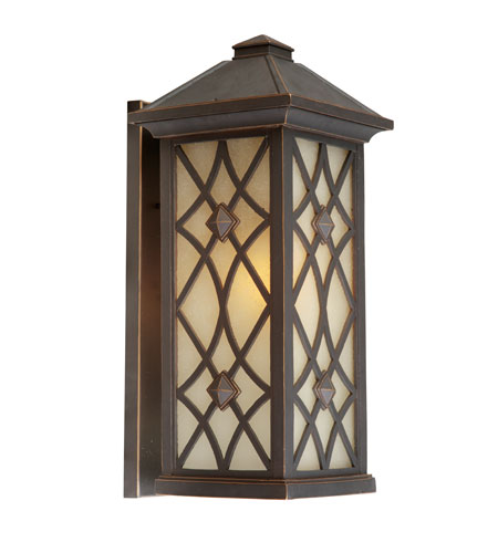 Artcraft Lighting Lattice 1 Light Outdoor Wall in Oil Rubbed Bronze AC8261OB photo