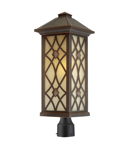 Artcraft Lighting Lattice 1 Light Post Head in Oil Rubbed Bronze AC8263OB photo