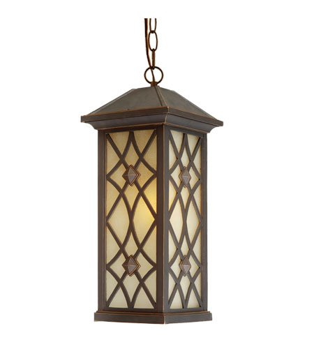 Artcraft Lighting Lattice 1 Light Outdoor Pendant in Oil Rubbed Bronze AC8265OB photo