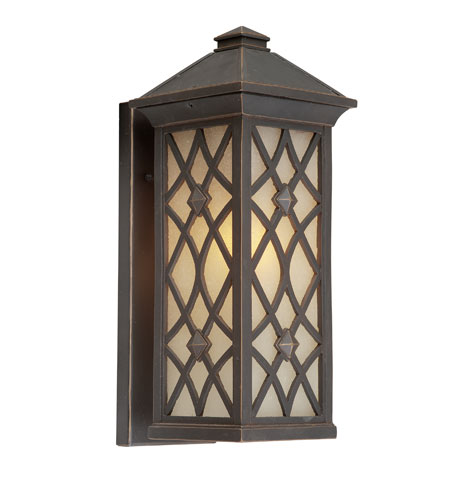 Artcraft Lighting Lattice 1 Light Outdoor Wall in Oil Rubbed Bronze AC8271OB photo