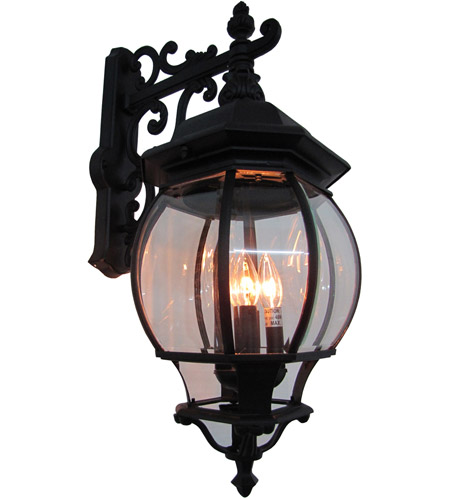 ARTCRAFT Classico 4 Light Outdoor Wall Mount in Black AC8491BK photo