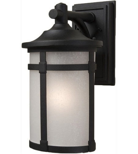 Artcraft AC8641BK St. Moritz 1 Light 16 inch Black Outdoor Wall Lantern photo