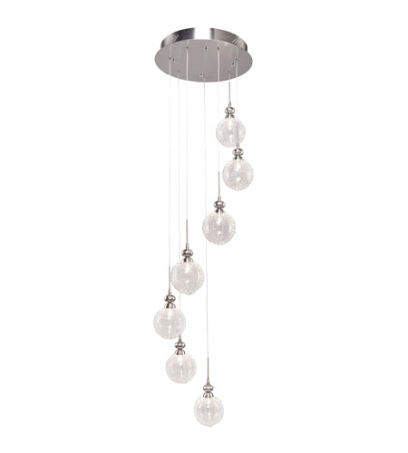 Artcraft Lighting Yale 7 Light Chandelier with Glass Encased Metal Glass AC887 photo