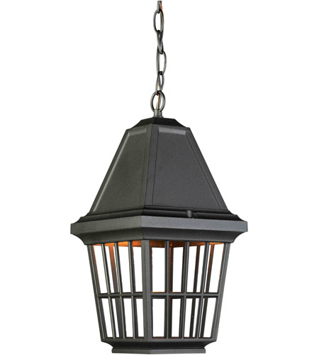 Artcraft Lighting Castille 1 Light Outdoor Pendant in Black AC8965BK photo