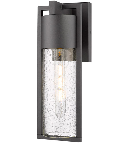 Artcraft Black Glass Outdoor Wall Lights