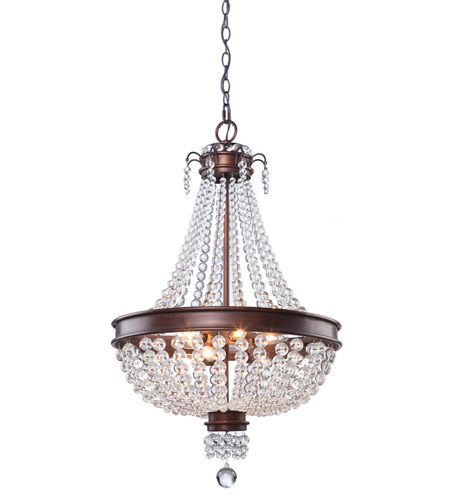 Artcraft Lighting Cobochon 8 Light Chandelier in Bronze CL1365 photo