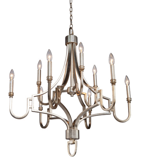 Steven & Chris by Artcraft Lighting Lexington 9 Light Chandelier in Silver Leaf SC1569 photo