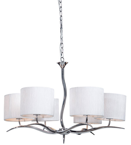 Steven & Chris by Artcraft Lighting Sloan 6 Light Chandelier in Chrome SC206 photo