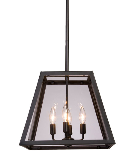 Steven & Chris by Artcraft Lighting Kingston 4 Light Chandelier in Black SC236 photo