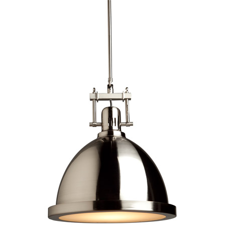 Artcraft SC290PN Broadview 1 Light 12 inch Polished Nickel Pendant Ceiling Light photo
