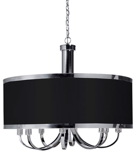 Artcraft sc438bk madison 8 light 30 inch black chandelier ceiling light mozeypictures Gallery