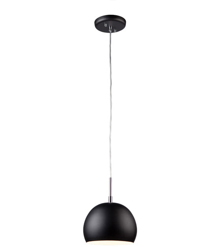 Steven & Chris by Artcraft Lighting On The Spot 1 Light Single Pendant in Black SC551 photo
