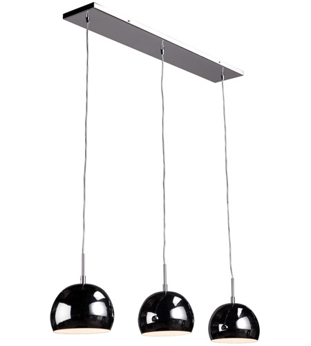 Artcraft SC554CH On The Spot 3 Light 36 inch Chrome Island Light Ceiling Light photo