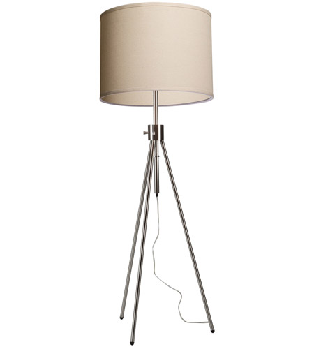 Artcraft SC589OM Mercer Street 57 inch 60 watt Brushed Nickel Floor Lamp Portable Light  photo