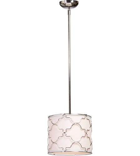 Steven & Chris by Artcraft Lighting Morocco 1 Light Single Pendant in Chrome SC641 photo