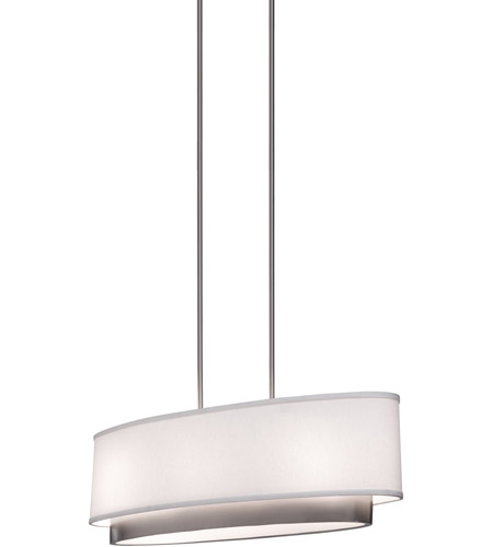 ARTCRAFT Scandia 3 Light Island Light in Brushed Nickel SC784 photo