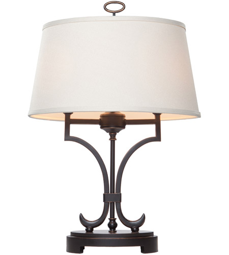 Steven & Chris by Artcraft Lighting Simplicity 2 Light Table Lamp in Oil Rubbed Bronze SC958 photo