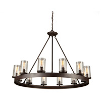 Menlo Park 12 Light 42 inch Dark Chocolate Chandelier Ceiling Light