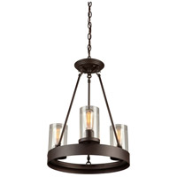 Menlo Park 3 Light 18 inch Oil Rubbed Bronze Chandelier Ceiling Light