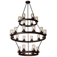 Menlo Park 24 Light 46 inch Oil Rubbed Bronze Chandelier Ceiling Light