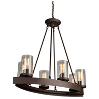 Menlo Park 6 Light 32 inch Oil Rubbed Bronze Chandelier Ceiling Light
