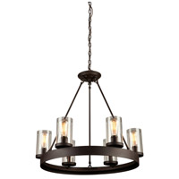 Menlo Park 6 Light 26 inch Oil Rubbed Bronze Chandelier Ceiling Light