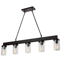 Artcraft AC10008 Menlo Park 5 Light 42 inch Oil Rubbed Bronze Island Light Ceiling Light