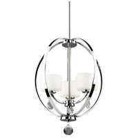 Piccadilly 3 Light 16 inch Chrome Chandelier Ceiling Light