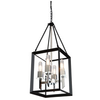 Vineyard 1 Light 12 inch Black/Chrome Chandelier Ceiling Light