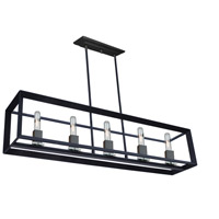 Vineyard 4 Light 39 inch Matte Black Island Light Ceiling Light