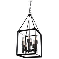 Vineyard 8 Light 16 inch Matte Black Chandelier Ceiling Light