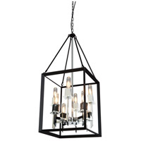 Vineyard 8 Light 16 inch Black/Chrome Chandelier Ceiling Light