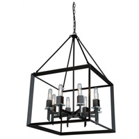 Vineyard 8 Light 20 inch Matte Black Chandelier Ceiling Light